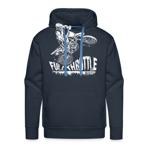Dirt Biker Full Throttle - Men's Premium Hoodie