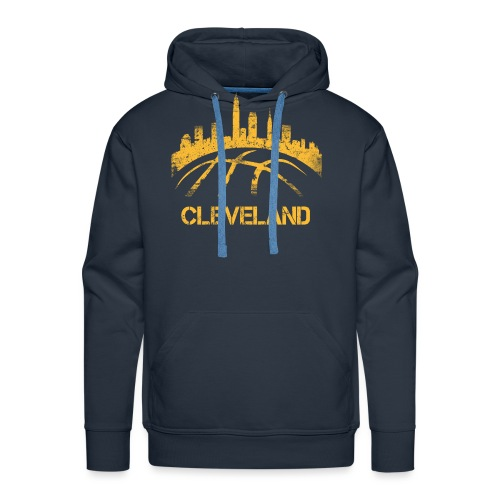 Cleveland Basketball Skyline - Men's Premium Hoodie