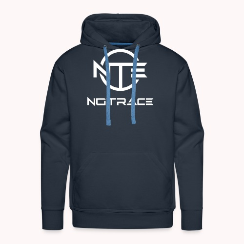 NoTrace WHITE Logo - Men's Premium Hoodie