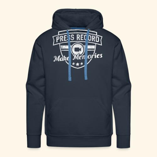 pressrecord_makememories2 - Men's Premium Hoodie