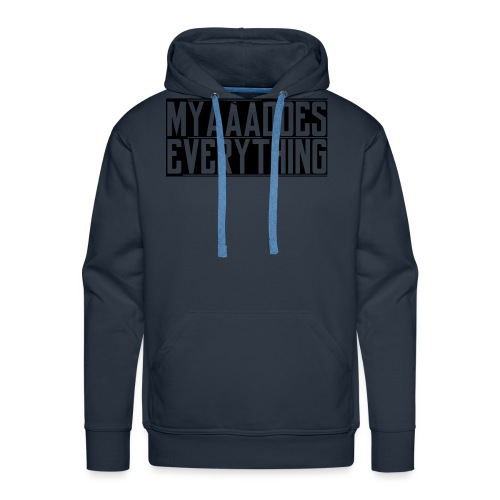 MyaaaDoesEverything (Black) - Men's Premium Hoodie