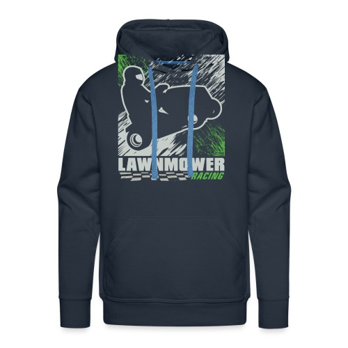 Lawnmower Racing Abstract - Men's Premium Hoodie