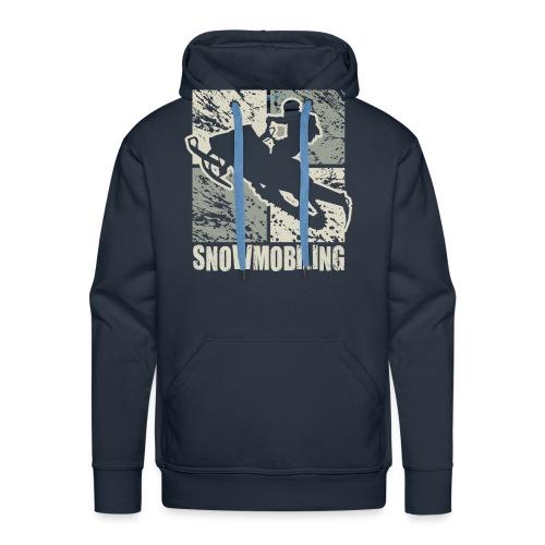 Snowmobile Rider Cubism - Men's Premium Hoodie