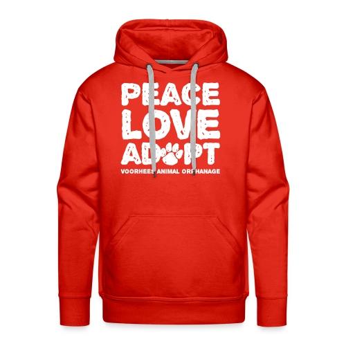 Peace Love Adopt Front png - Men's Premium Hoodie