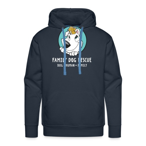fdr logo (white tagline) - Men's Premium Hoodie