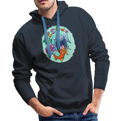 Big fish eat little fish and vice versa - Men's Premium Hoodie