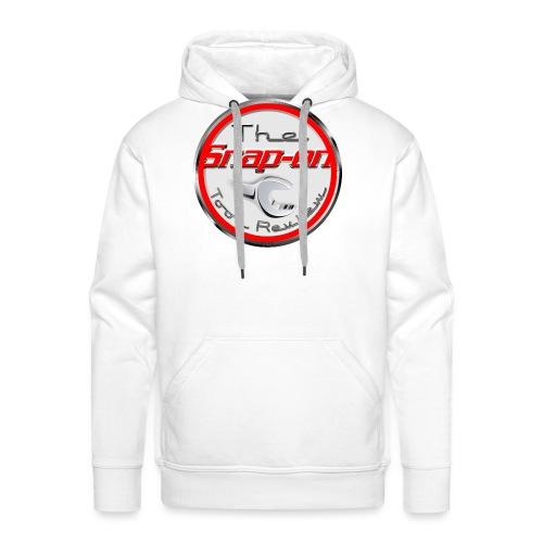red logo white youtube - Men's Premium Hoodie