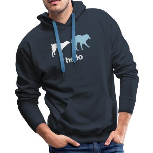 Hello - Men's Premium Hoodie