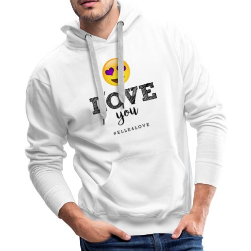 I LOVE you - Men's Premium Hoodie