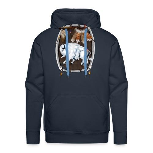 White Buffalo Shield - Men's Premium Hoodie