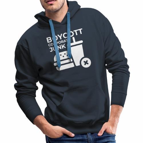 Boycott corporate junk - Men's Premium Hoodie