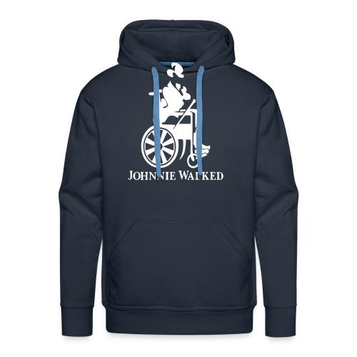 Johnnie Walked, Wheelchair fun, whiskey and roller - Men's Premium Hoodie