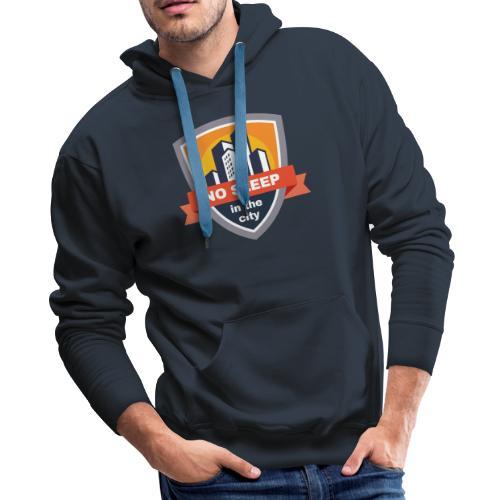 No sleep in the city   Colorful Badge Design - Men's Premium Hoodie