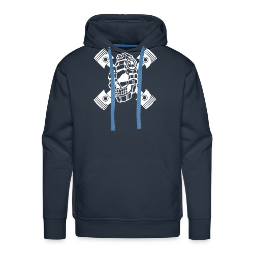 ZD SKULL BONES WHITE - Men's Premium Hoodie