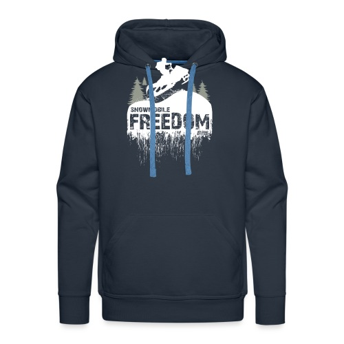Snowmobile Freedom - Men's Premium Hoodie