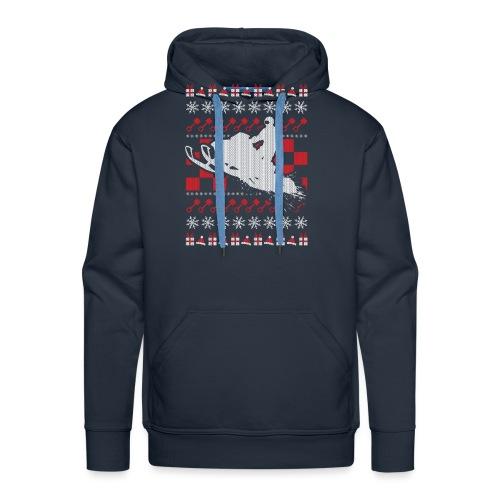 Snowmobile Ugly Christmas - Men's Premium Hoodie