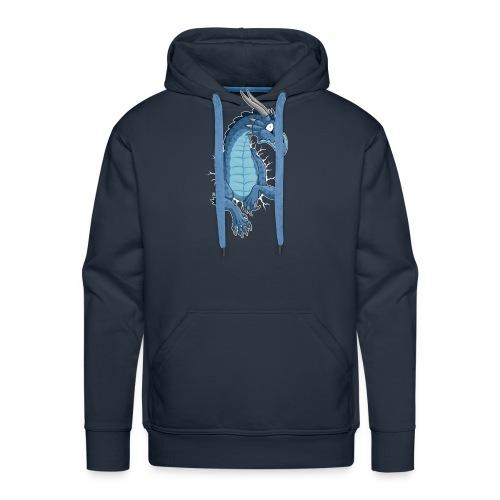 STUCK Blue Dragon (front) - Men's Premium Hoodie