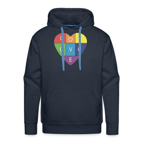 Rainbow Heart - Men's Premium Hoodie