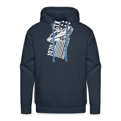 1970 Plymouth GTX stars and stripes - Men's Premium Hoodie
