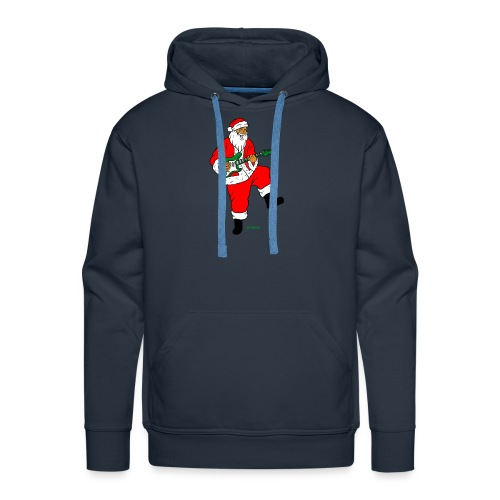 santa clause guitar - Men's Premium Hoodie