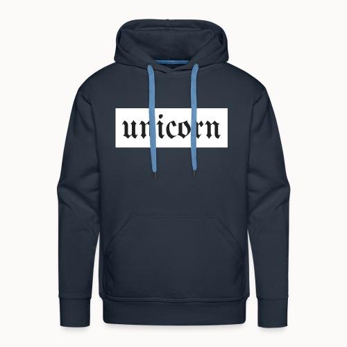 Gothic Unicorn Text White Background - Men's Premium Hoodie