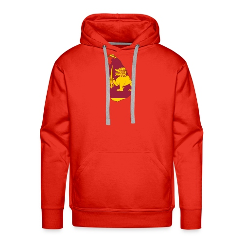 Flag map of sri lanka - Men's Premium Hoodie
