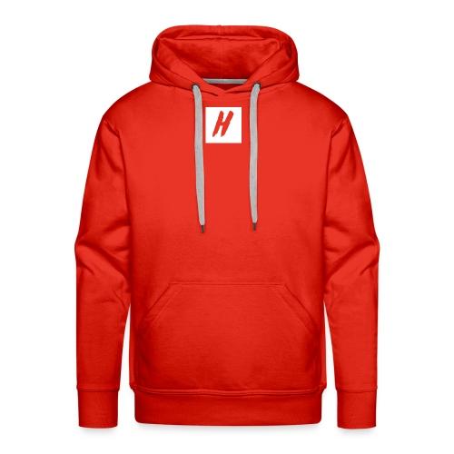 White HMF Logo - Men's Premium Hoodie