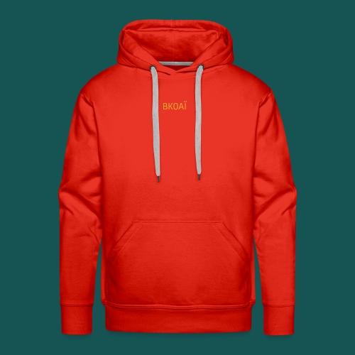 BK0AI - Orange Logo - Men's Premium Hoodie