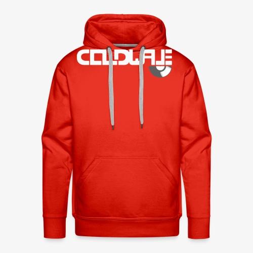 Coldwave Logo with (half) Vinyl - White - Men's Premium Hoodie