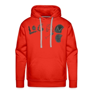 Hand Drawn Halloween Themed Logo - Men's Premium Hoodie