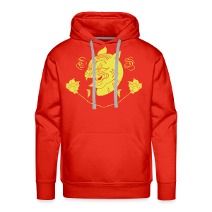 Panthers and Petals - Men's Premium Hoodie