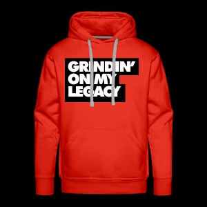 Grinding on My Legacy (Red) - Men's Premium Hoodie