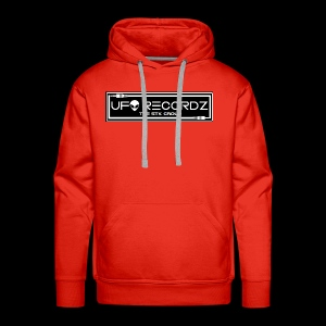 Black on White UFO Recordz - Men's Premium Hoodie