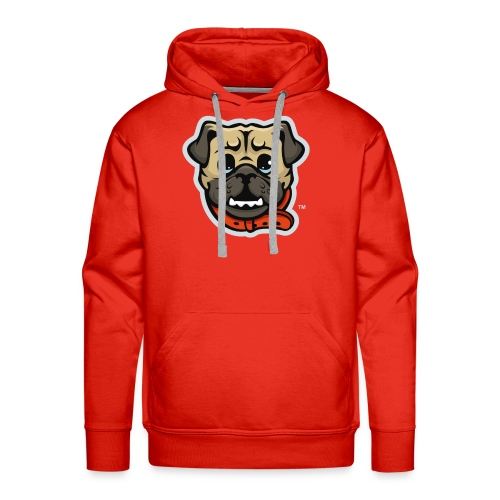 Pug_Mascot_WhiteBG - Men's Premium Hoodie