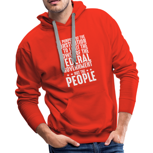 Purpose Of The Constitution - Men's Premium Hoodie