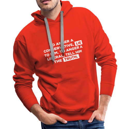 The Truth Hurts Liberals - Men's Premium Hoodie