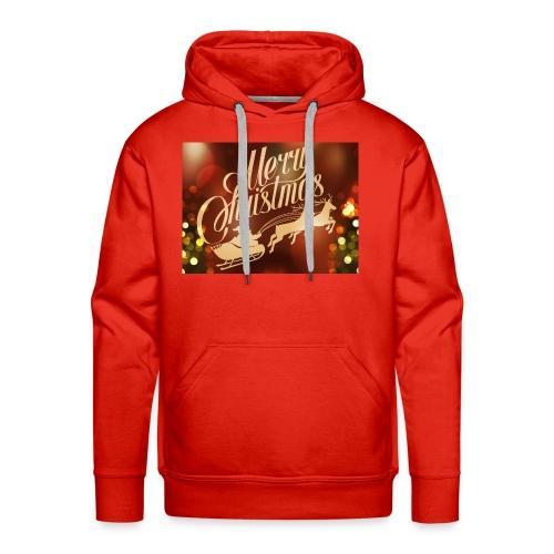 merry christmas 2015 carriage santa claus vector h - Men's Premium Hoodie