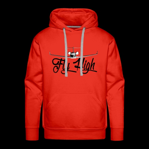 NEW FLY HIGH LOGO BLACK - Men's Premium Hoodie