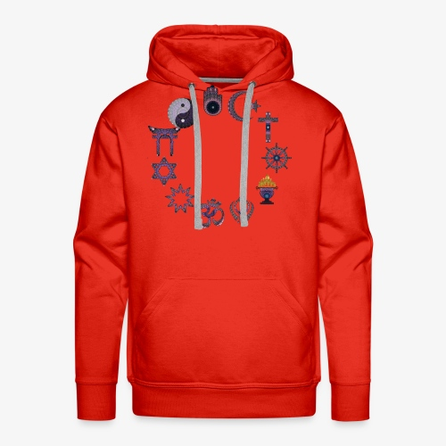 Love and peace religious signs - Men's Premium Hoodie