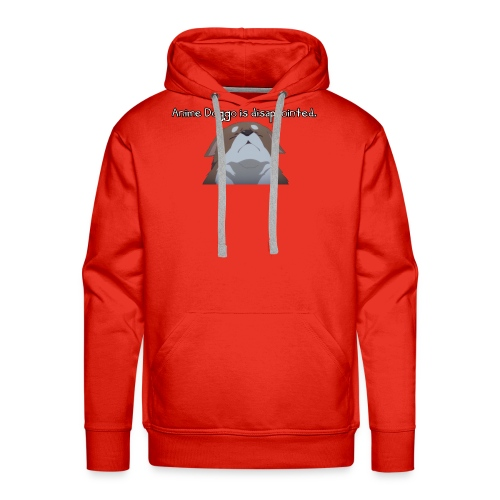 Disappointed Anime Doggo - Men's Premium Hoodie