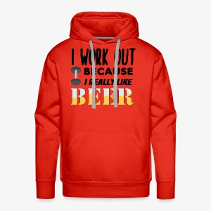 I Work Out For Beer - Men's Premium Hoodie