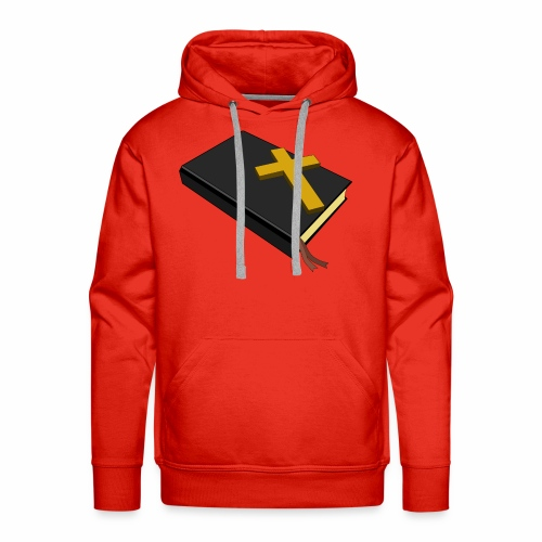 Bible And Cross - Men's Premium Hoodie
