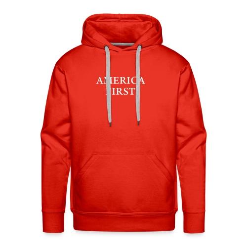 AMERICA FIRST 1Tee shirt - Men's Premium Hoodie