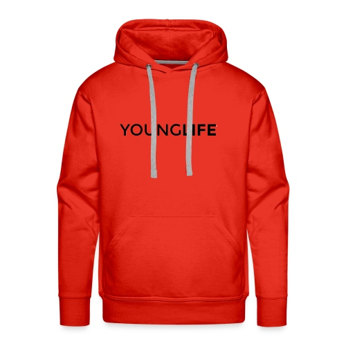 Young Life logo (text)(black) - Men's Premium Hoodie