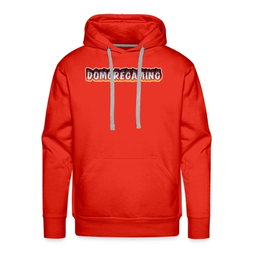 domoregaming on fire - Men's Premium Hoodie