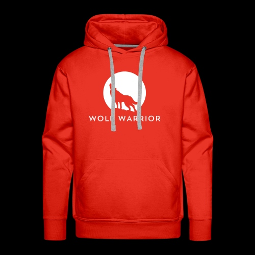 Red/Grey Wolf - Men's Premium Hoodie