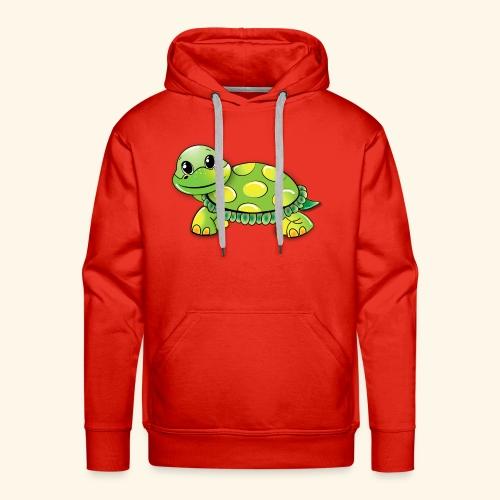 Green turtle cartoon - Men's Premium Hoodie