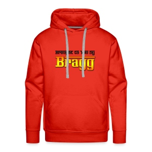 Brought to You by Bragg Logo with Black Text - Men's Premium Hoodie