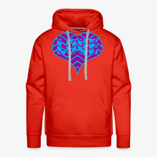 CHEVRON LOVE HEART - Men's Premium Hoodie