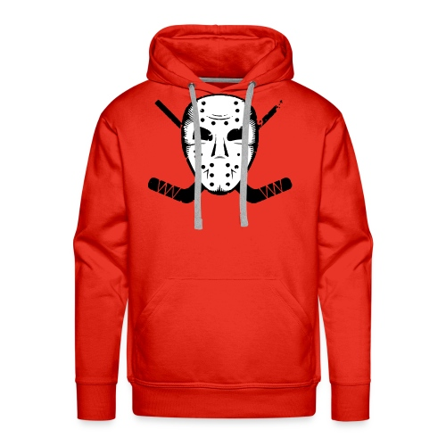 HOCKEY MASK STICKS ICE SKATE WINTER SPORTS FAN - Men's Premium Hoodie